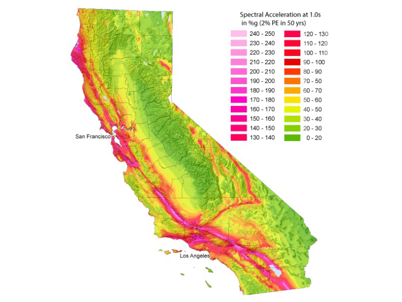Earthquake Potential of California Considering Site Effects