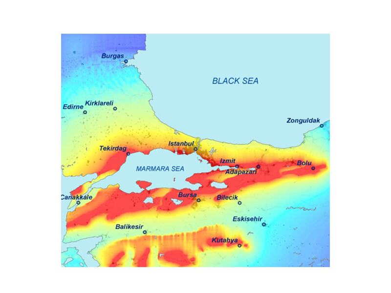 Seismic Hazard Mapping of Sea of Marmara (Istanbul, Turkey)